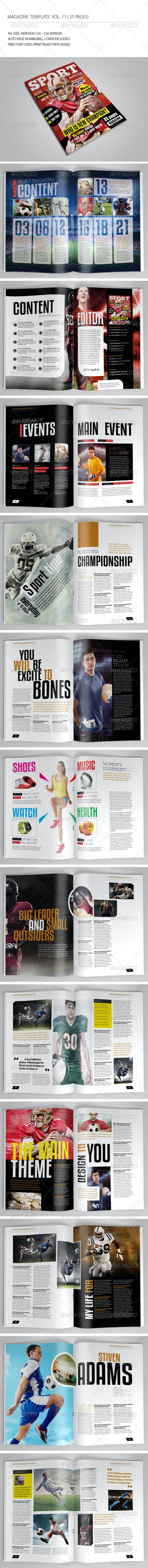25 Pages Sport Magazine Vol11 - Magazines Print Templates