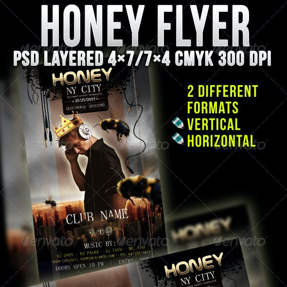 Honey Party Flyer