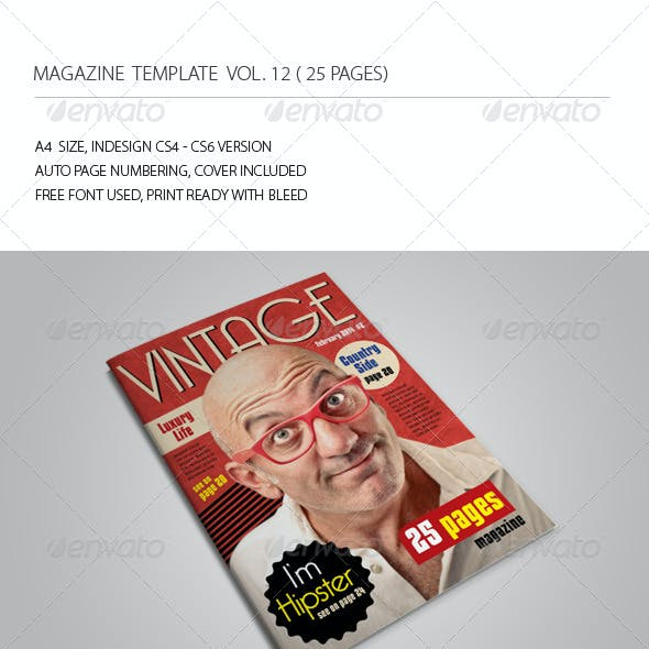 25 Pages Vintage Magazine Vol12