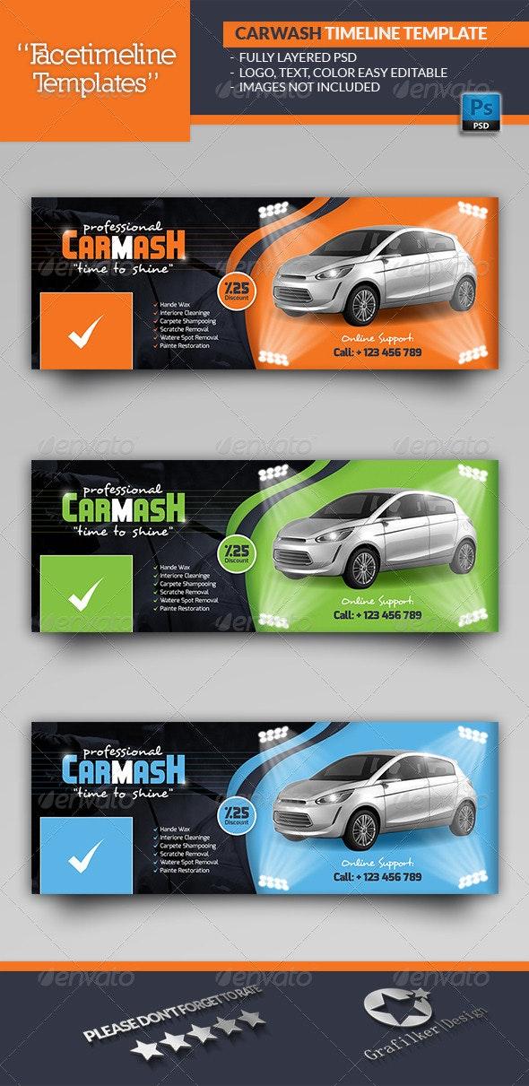 Car Wash Timeline Templates - Facebook Timeline Covers Social Media