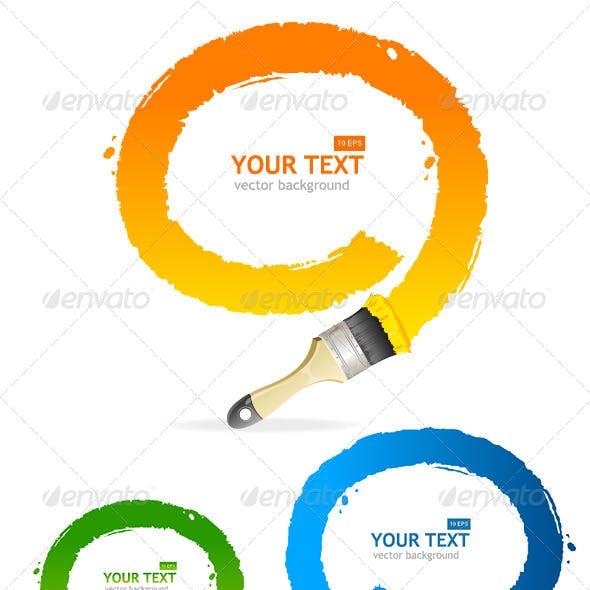 Vector Brush Speech Bubbles Set