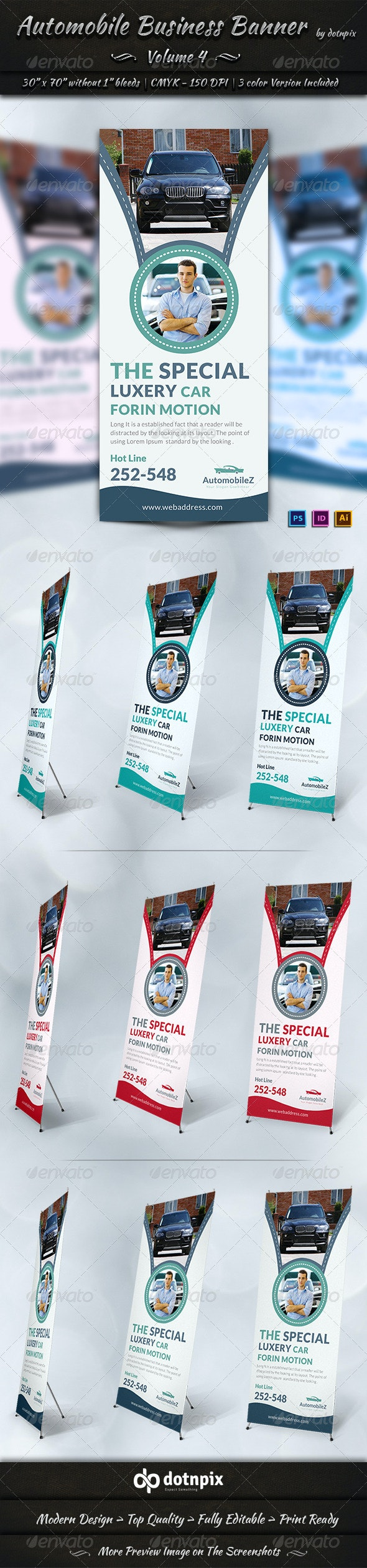 Automobile Business Banner | Volume 4 - Signage Print Templates