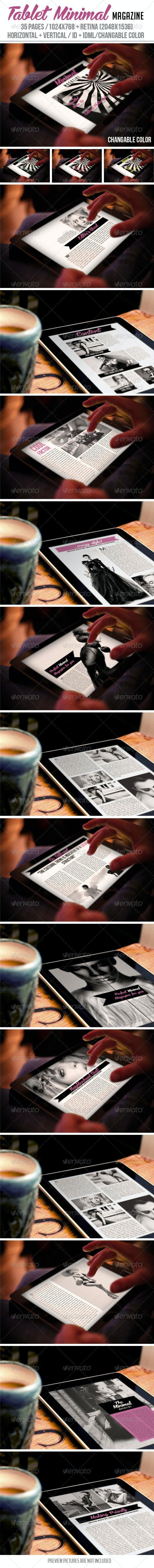 iPad & Tablet Minimal Magazine - Digital Magazines ePublishing