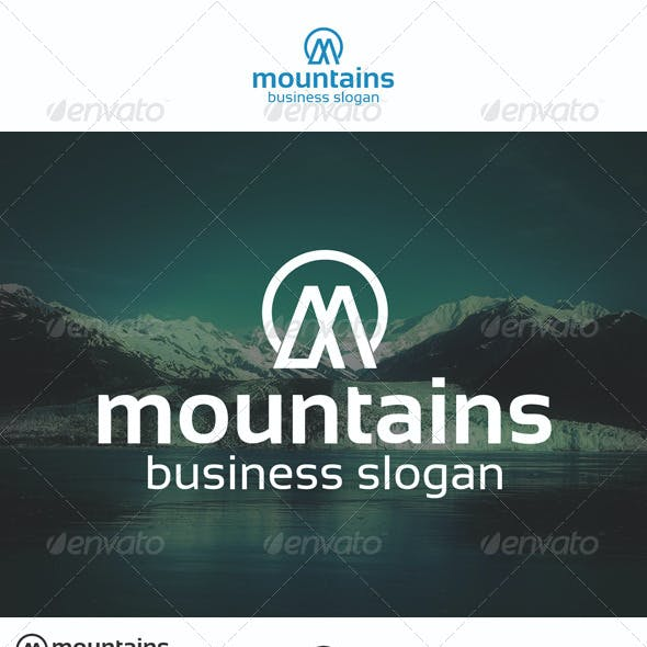 Mountains Logo M Letter