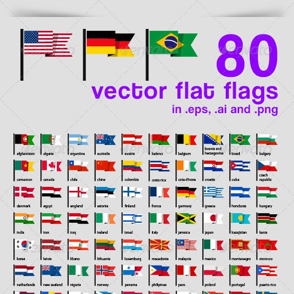 80 Vector Flat Flags