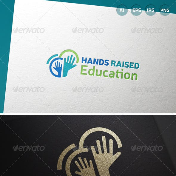 Hands Raised Education Logo