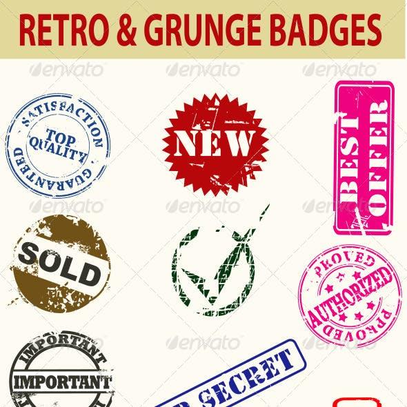 Retro and Grunge Badges
