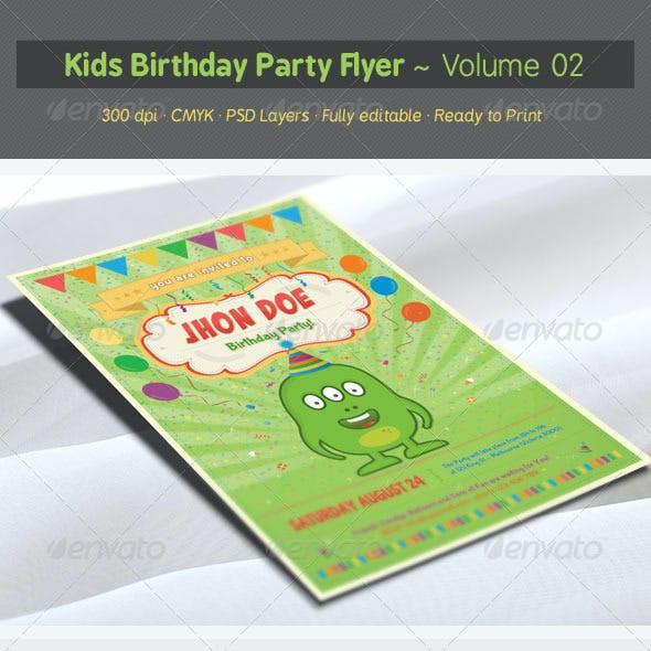 Kids Birthday Party Flyer - Volume 02