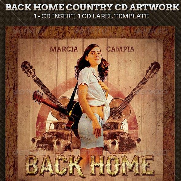 Back Home Country Music CD Artwork