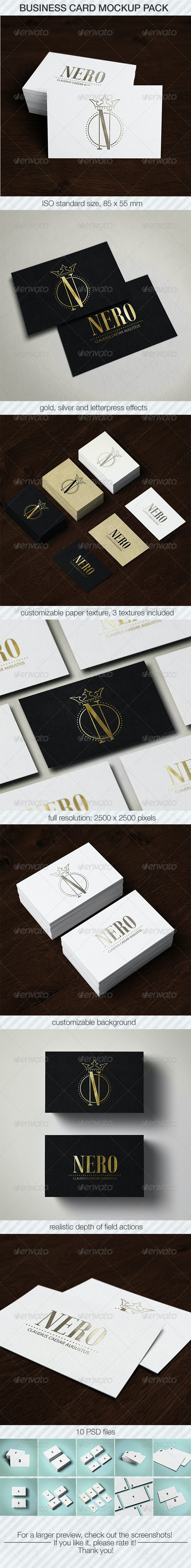 Business Card Mockup Pack - Business Cards Print