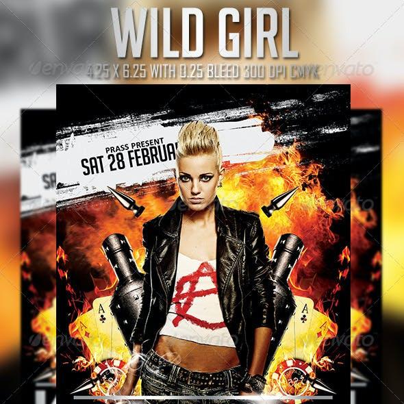 Wild Girl Flyer Template