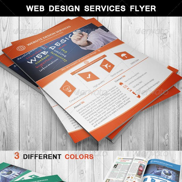 Web Design Services Flyer