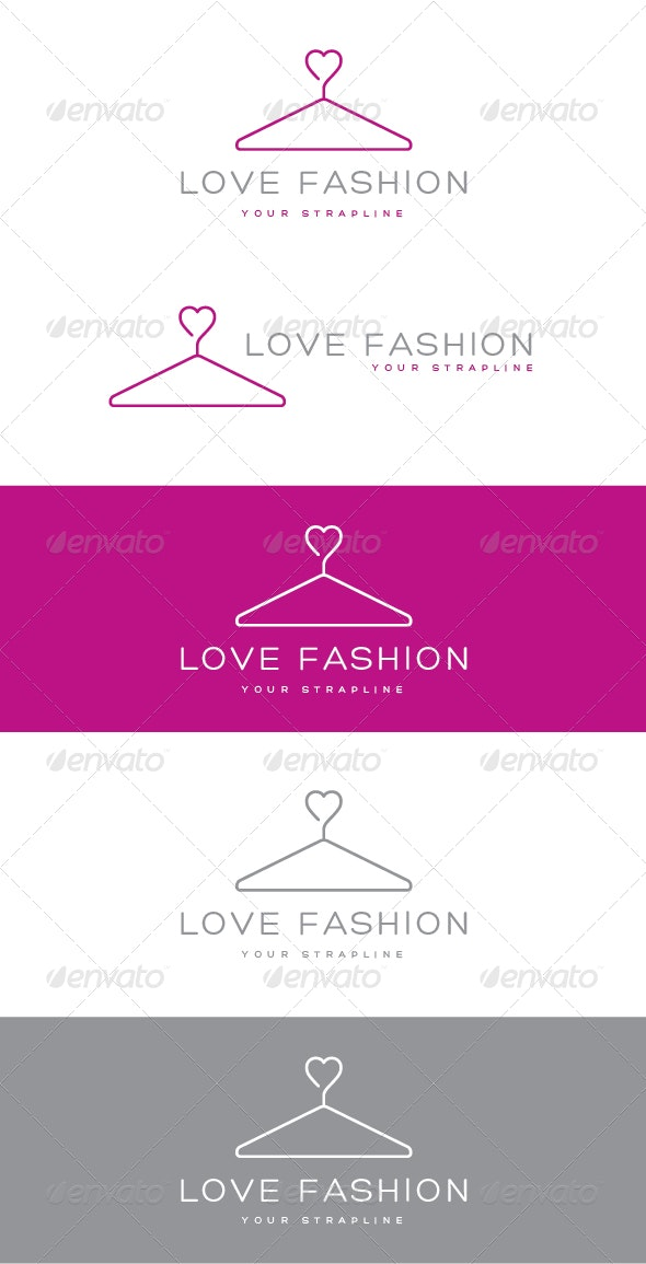 Love Fashion Logo - Objects Logo Templates