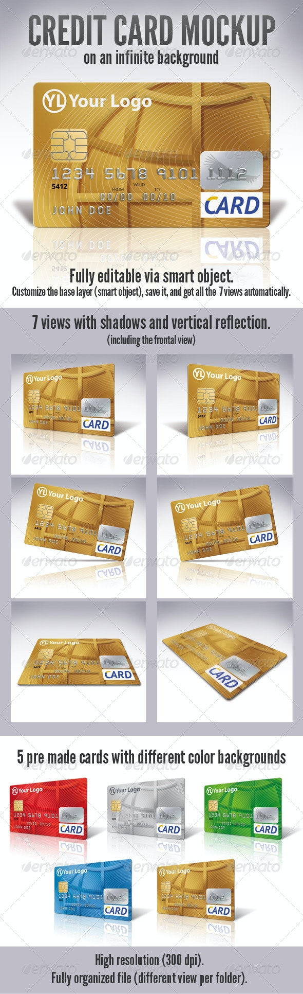 Credit Card Mock-Up - Miscellaneous Print