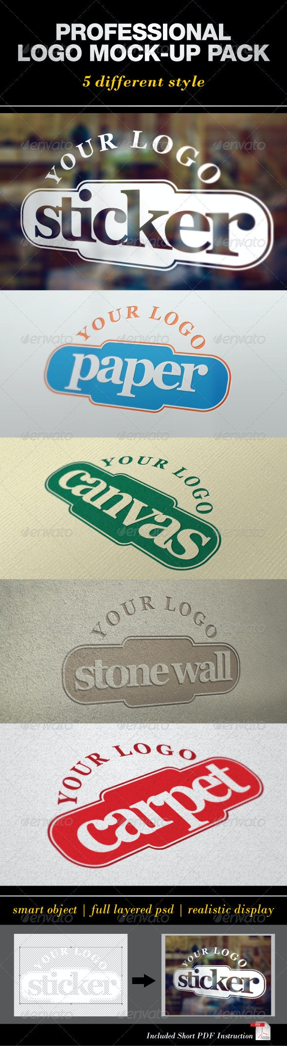Professional Logo Mock-Up Pack - Logo Product Mock-Ups