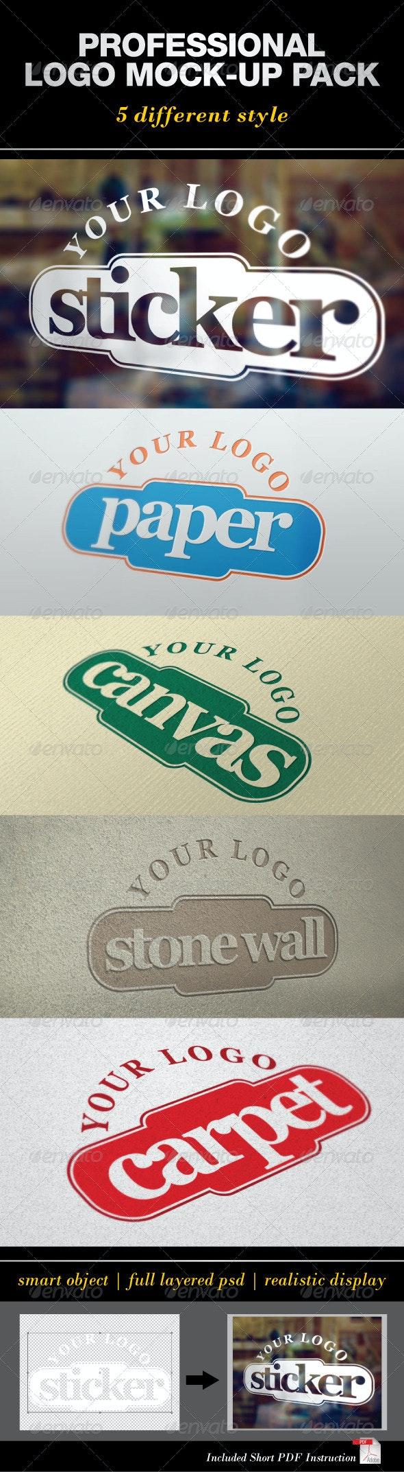 Professional Logo Mock-Up Pack - Logo Product Mock-Ups