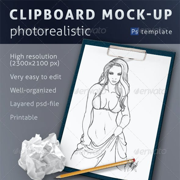 Photorealistic Clipboard Mock-up