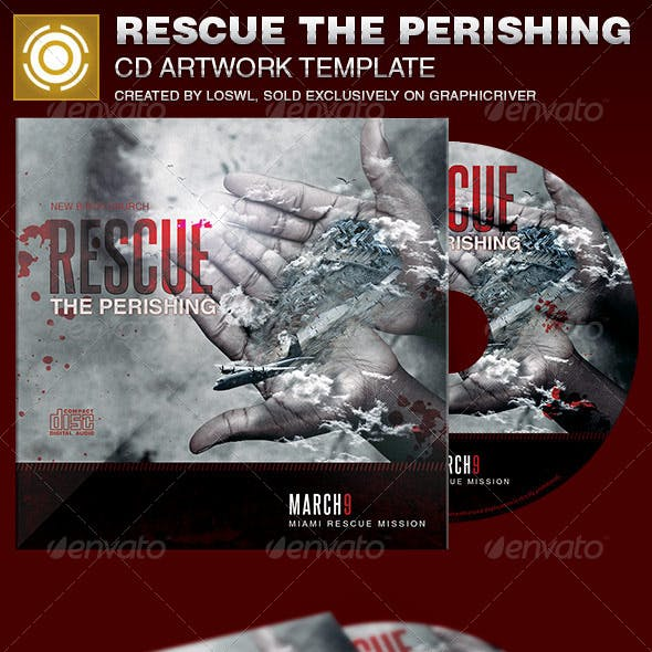 Rescue the Perishing Charity CD Artwork Template