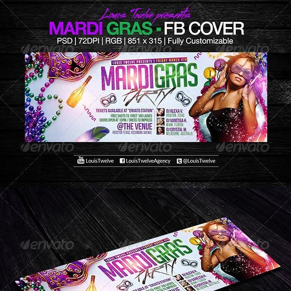 Mardi Gras / Carnival Party | Facebook Cover