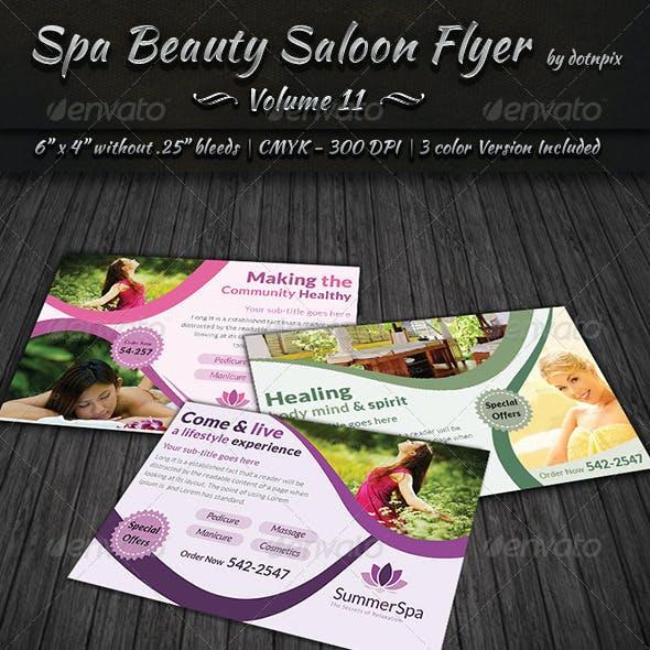 Spa & Beauty Saloon Flyer   Volume 11