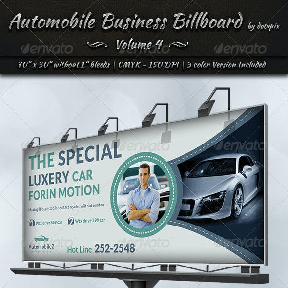 Automobile Business Billboard | Volume 4