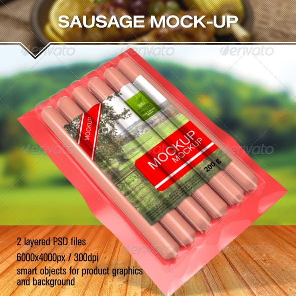 Sausage Package Mock Up