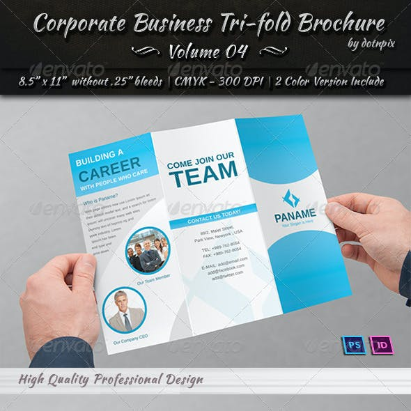 Corporate Business Tri-fold Brochure | Volume 4