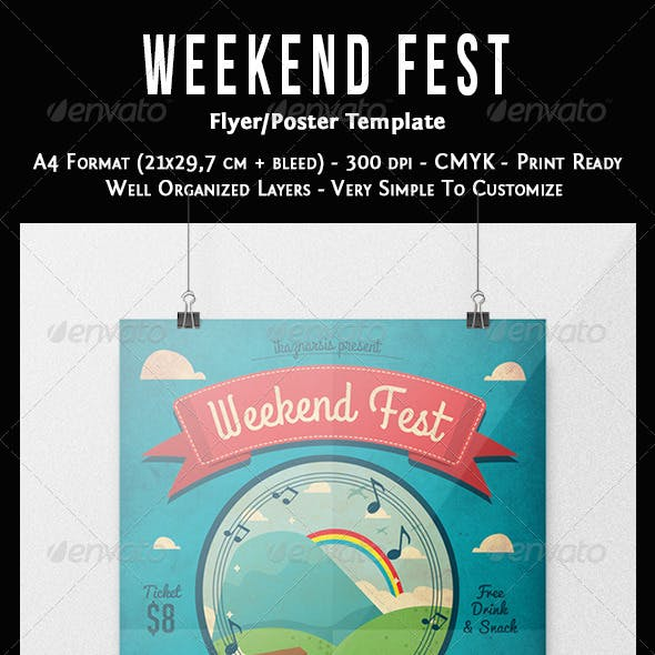 Weekend Fest Flyer Template