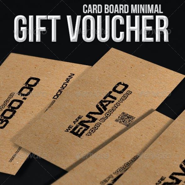 Minimal gift voucher - cardboard