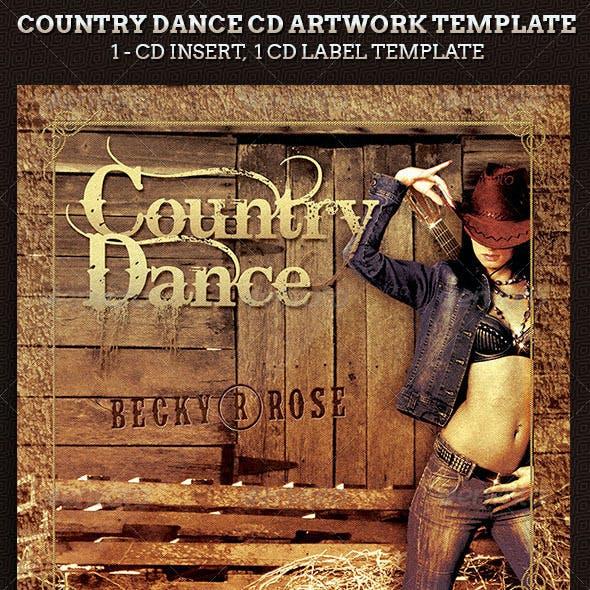 Country Dance Music CD Artwork Template