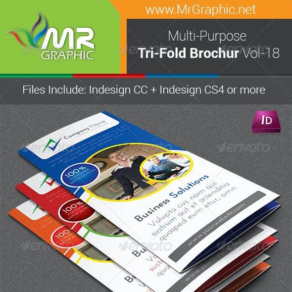 Multipurpose Business Tri-Fold Brochure Vol-18