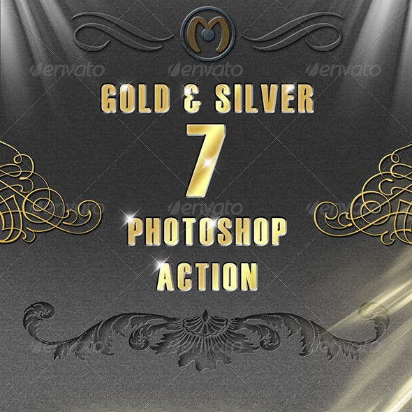 Gold & Silver Photoshop Action