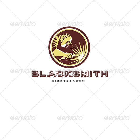 Blacksmith Welder Fabricator Welding Logo