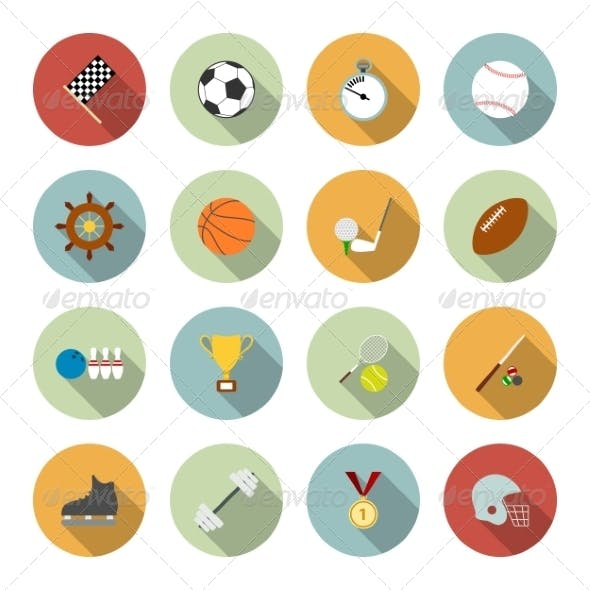 Sports Flat Icons