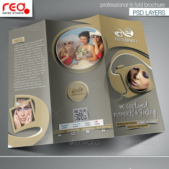 Photography Studio Trifold Brochure Template