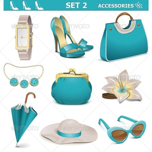 Vector Female Accessories Set 2