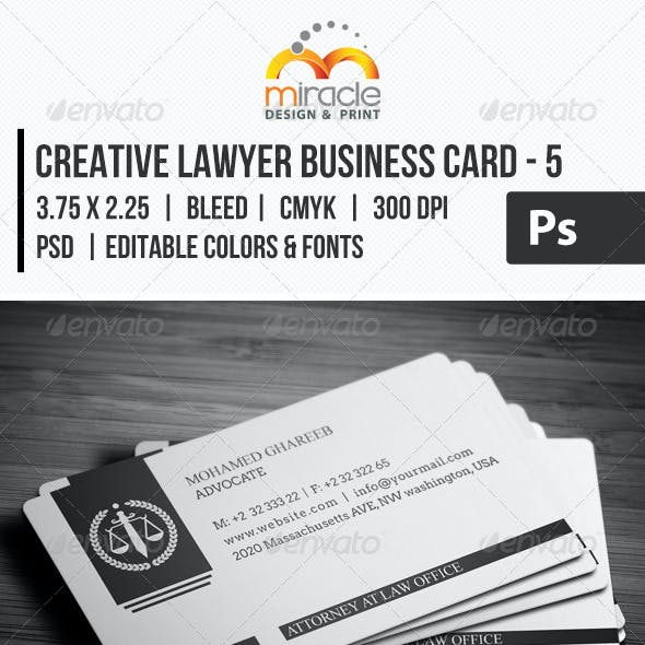 Creative Lawyer Business Card #5