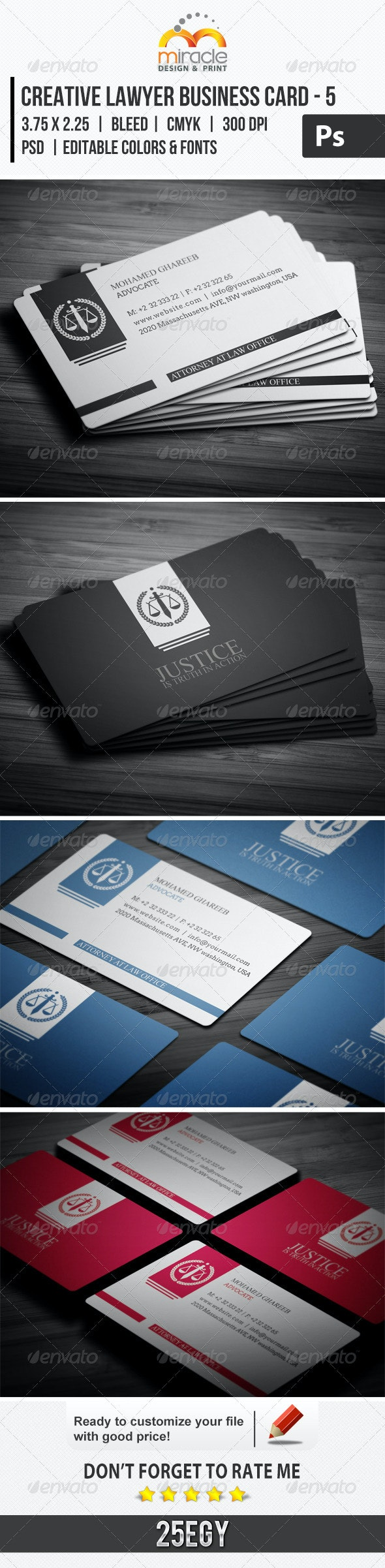 Creative Lawyer Business Card #5 - Industry Specific Business Cards