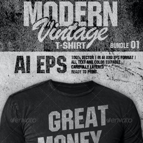 Modern Vintage T-Shirt Bundle 01