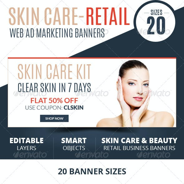 Skin Care Retail Web Ad Marketing Banners