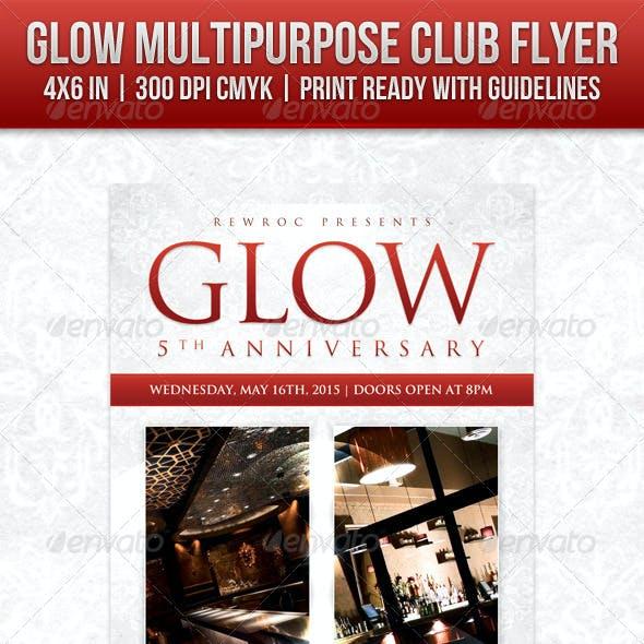 Glow Multipurpose Club Flyer