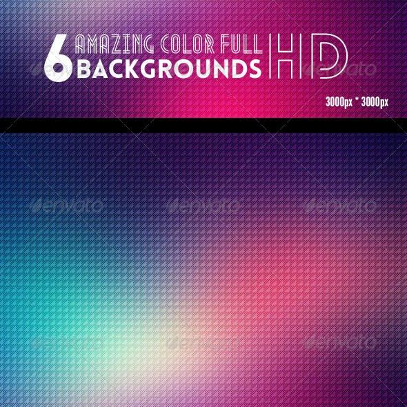 6 Geometric ColorFull Backgrounds HD