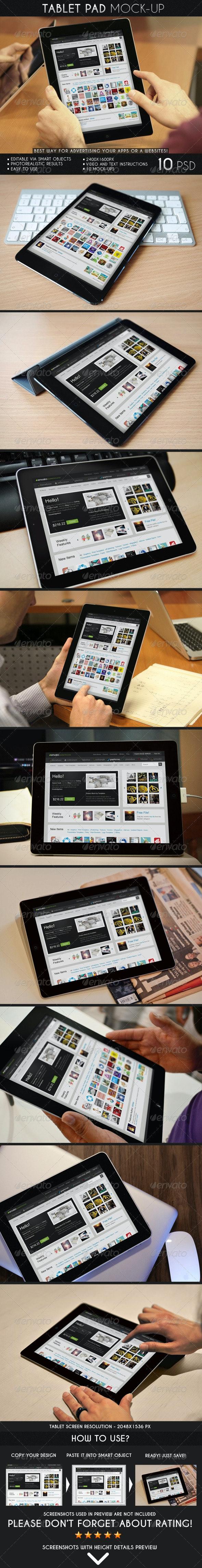 Tablet Pad Mock-Up - Mobile Displays