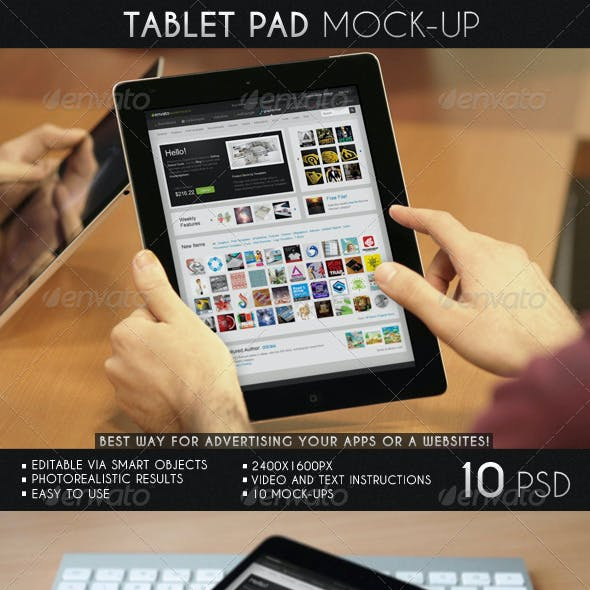 Tablet Pad Mock-Up