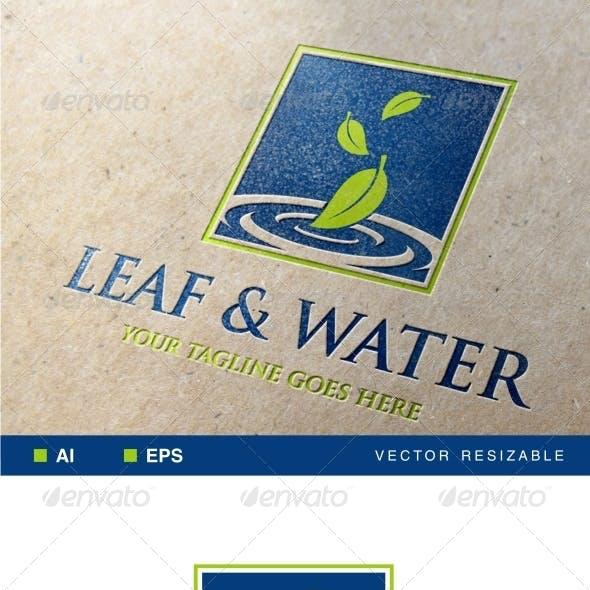 Leaf & Water Logo