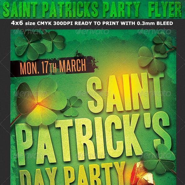Saint Patrick's Party Flyer Template