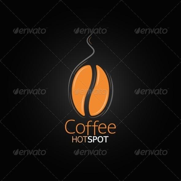 Coffee Bean Design Menu Background