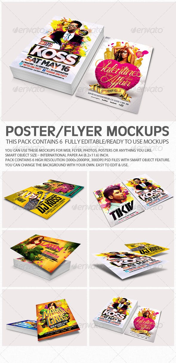 6528d1dae003 Flyer Poster Mockups V3 by ydlabs | GraphicRiver