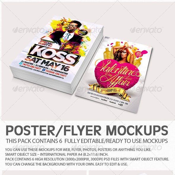 Flyer Poster Mockups V3