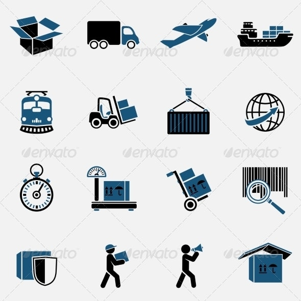 Logistic Icons Set - Business Icons